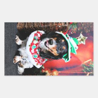 Christmas - Dachshund - Phoenix Rectangle Stickers