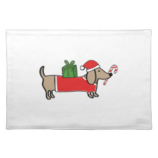 Christmas dachshund placemat