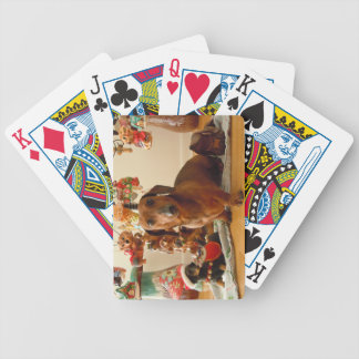 Christmas Dachshund (Version 1) Bicycle Playing Cards