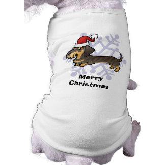 Christmas Dachshund (wirehair) Dog Tee