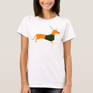 Christmas Dachshund Women's Basic Tee