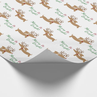 Christmas Dachshund Wrapping Paper Merry & Bright