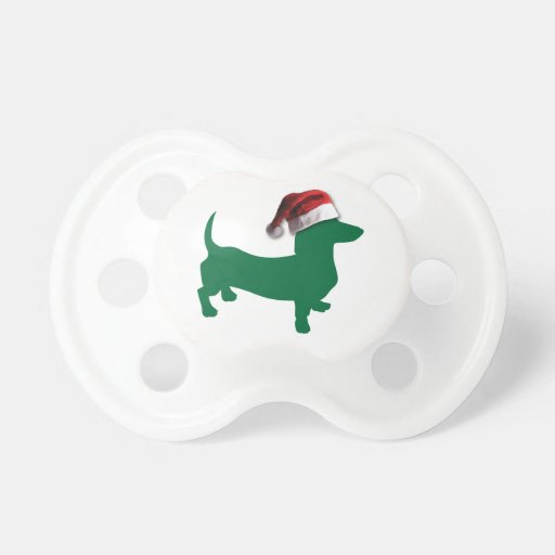 Christmas Dachshunds Baby Pacifiers