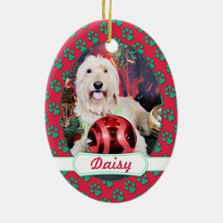 Christmas - Daisy - Goldendoodle Ceramic Ornament