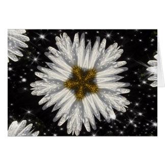Christmas Daisy Star Card