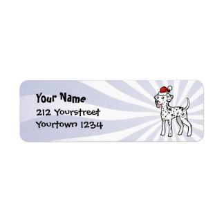 Christmas Dalmatian Return Address Label