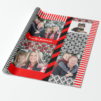 Christmas Damask 5 Big Family Photos Custom