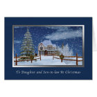 Christmas, Daughter and Son-in-law, Winter Scene Card