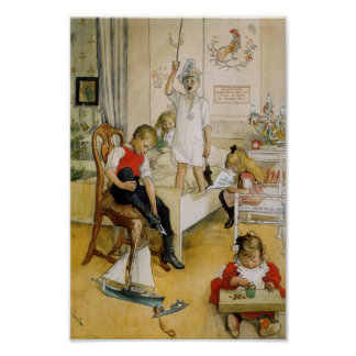 Christmas Day in the Nursery 1894 Poster