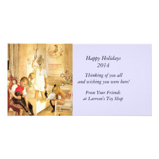 Christmas Day in the Nursery Personalized Photo Card