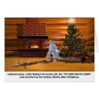 Christmas: Death Dino vaporizes child Card