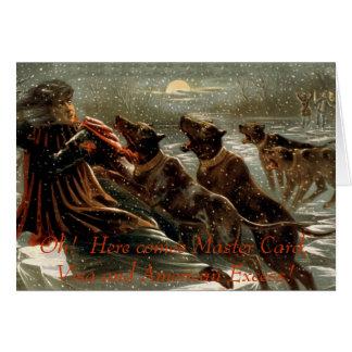 Christmas Debt Greeting Card