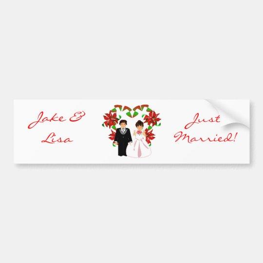 Christmas/December Just Married Bumper Sticker