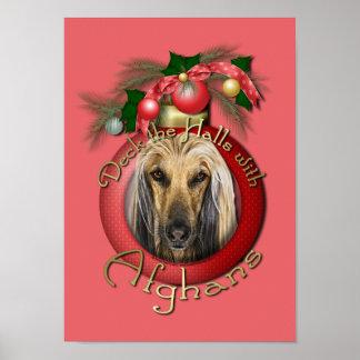 Christmas - Deck the Halls - Afghans Poster