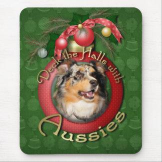 Christmas - Deck the Halls - Aussie - Gustine Mousepad