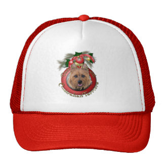 Christmas - Deck the Halls - Australian Terriers Mesh Hat