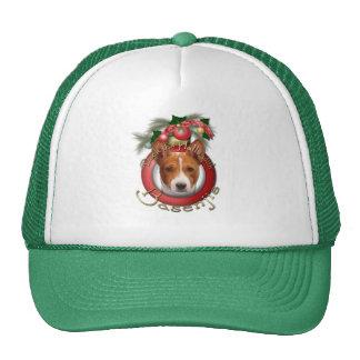 Christmas - Deck the Halls - Basenjis Mesh Hats