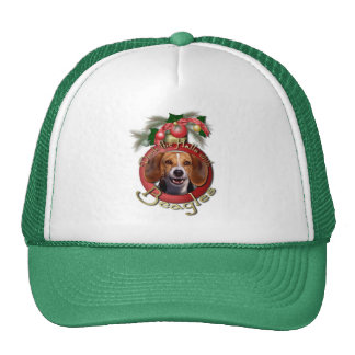 Christmas - Deck the Halls - Beagles Mesh Hats