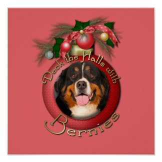 Christmas - Deck the Halls - Bernies Print