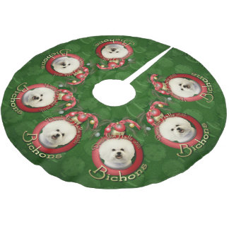 Christmas - Deck the Halls - Bichons Brushed Polyester Tree Skirt