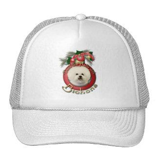 Christmas - Deck the Halls - Bichons Trucker Hats