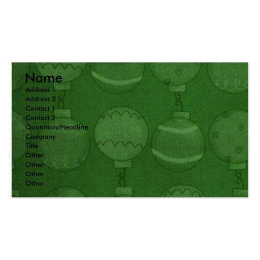 Christmas - Deck the Halls - Bostons Business Card