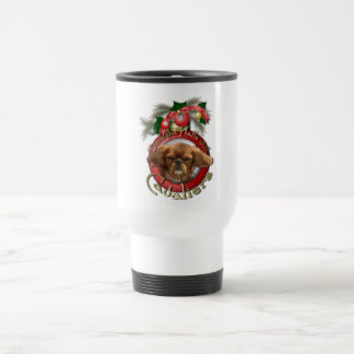 Christmas - Deck the Halls - Cavaliers - Ruby Travel Mug