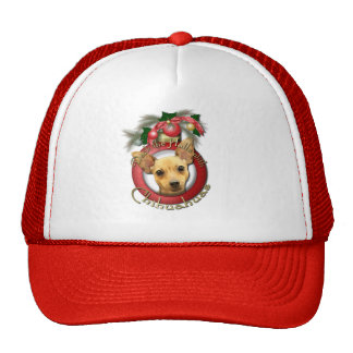 Christmas - Deck the Halls - Chihuahuas - Daisy Mesh Hat