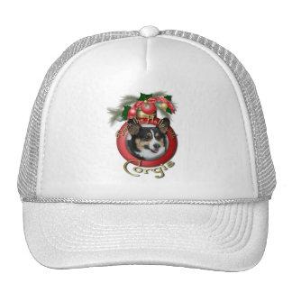 Christmas - Deck the Halls - Corgis Mesh Hat