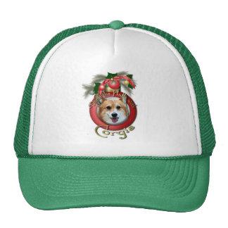 Christmas - Deck the Halls - Corgis - Owen Mesh Hats