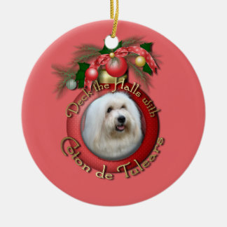 Christmas - Deck the Halls - Cotons Ceramic Ornament
