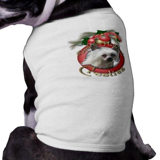 Christmas - Deck the Halls - Cresties Dog T-shirt