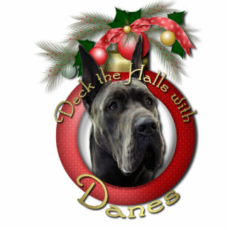 Christmas - Deck the Halls - Danes - Grey Acrylic Cut Out