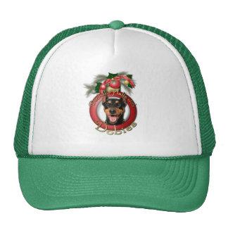 Christmas - Deck the Halls - Dobies - Megyan Trucker Hat