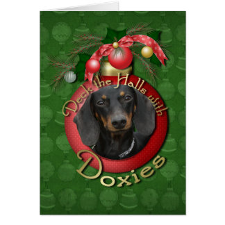 Christmas - Deck the Halls - Doxies Card
