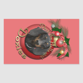 Christmas - Deck the Halls - Doxies Sticker