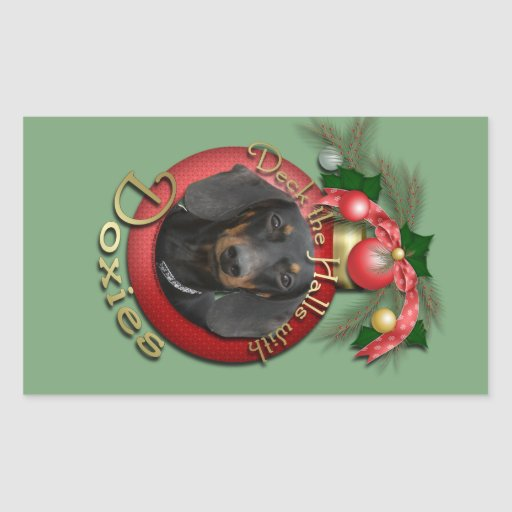 Christmas - Deck the Halls - Doxies - Winston Stickers
