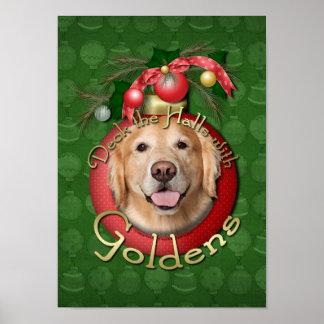 Christmas - Deck the Halls - Goldens - Corona Poster