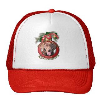 Christmas - Deck the Halls - Labradors - Chocolate Trucker Hat