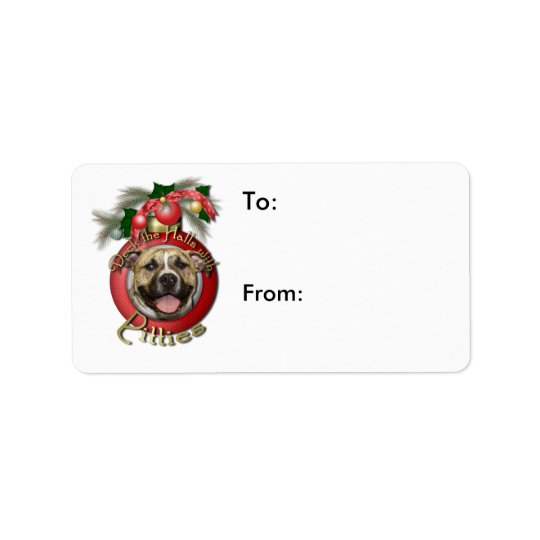 Christmas - Deck the Halls - Pitties - Tigger Label