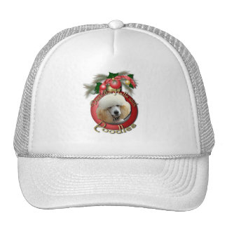 Christmas - Deck the Halls - Poodles - Apricot Hats
