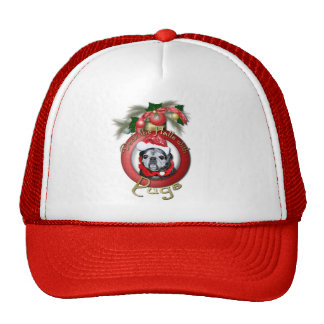 Christmas - Deck the Halls - Pugs - Angel Trucker Hat