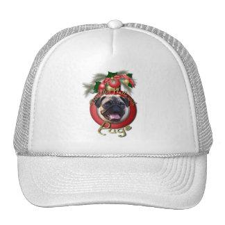 Christmas - Deck the Halls - Pugs Mesh Hat