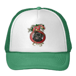 Christmas - Deck the Halls - Pugs - Ruffy Trucker Hats