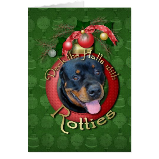 Christmas - Deck the Halls - Rotties - Harley Card