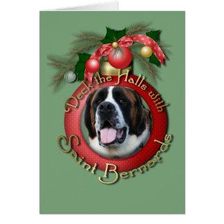 Christmas - Deck the Halls - Saint Bernards - Mae Card