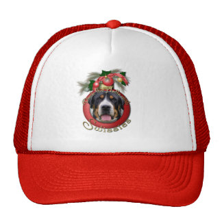 Christmas - Deck the Halls - Swissies Trucker Hats