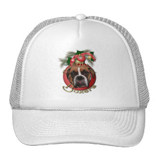 Christmas - Deck the Halls with Boxers - Marnie Trucker Hat