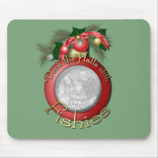 Christmas - Deck the Halls With Fishies Mousepads