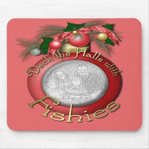 Christmas - Deck the Halls With Fishies Mousepad
